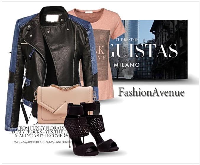 87dec972398f4 ... stylizacja Najmodniejsza Kurtka Damska Ramoneska Skóra Jeans na Wiosnę  2017 Lato Jesień 2016 Zameczki Blogerska model ...