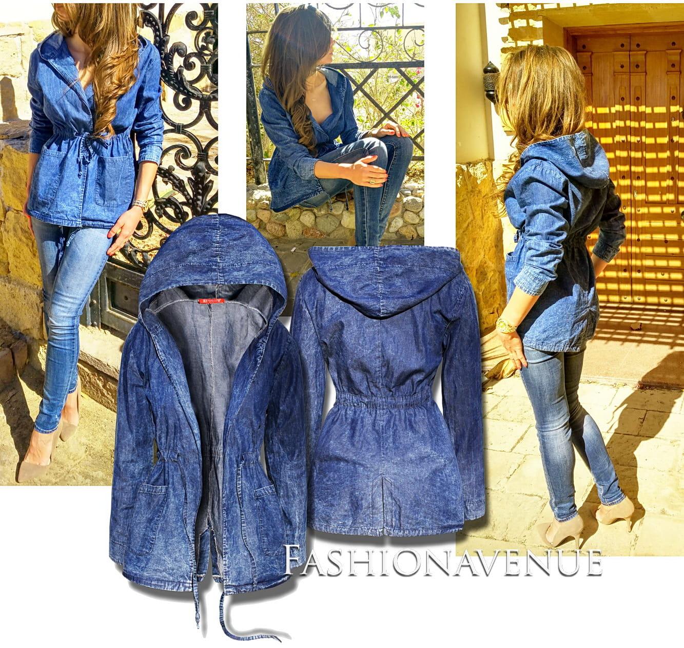 a0e439f8d1045 ... kurtka damska parka kaptur fashionavenue jeans marmurek dekatyzowany  wiosna lato #114 fashionavenue.pl ...