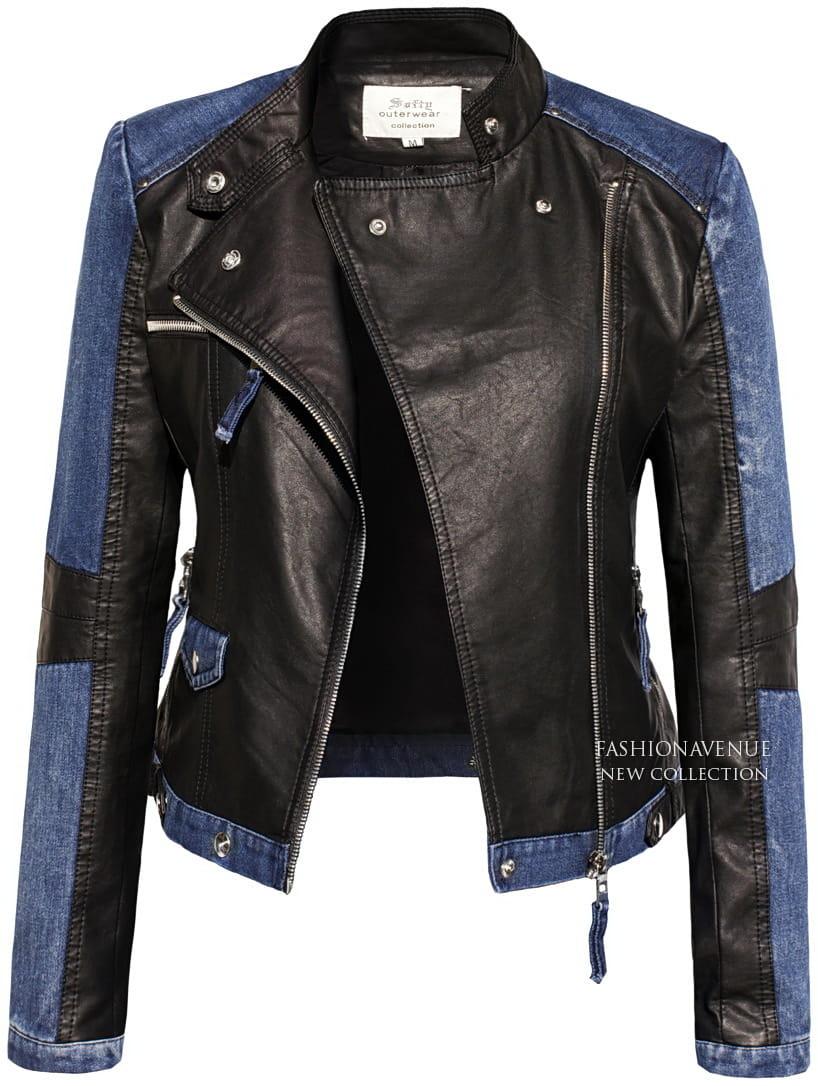 14697bd28693c Najmodniejsza Kurtka Damska Ramoneska Skóra Jeans na Wiosnę 2017 Lato  Jesień 2016 Zameczki Blogerska model ...