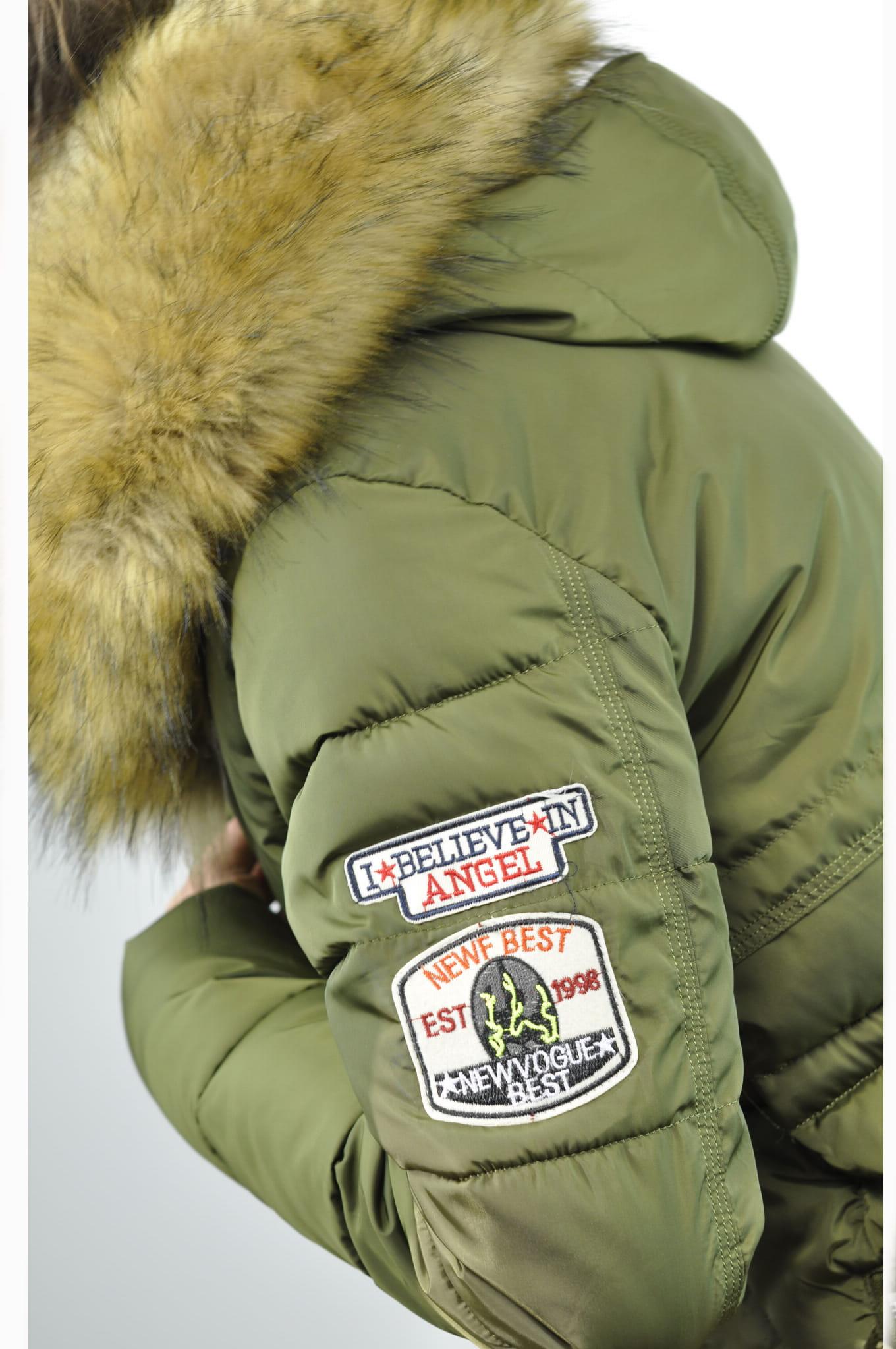 1c3317f0cebc ... fashionavenue.pl kurtka damska zimowa parka naszywki jenot militarna  asymetryczna khaki model  111 ...