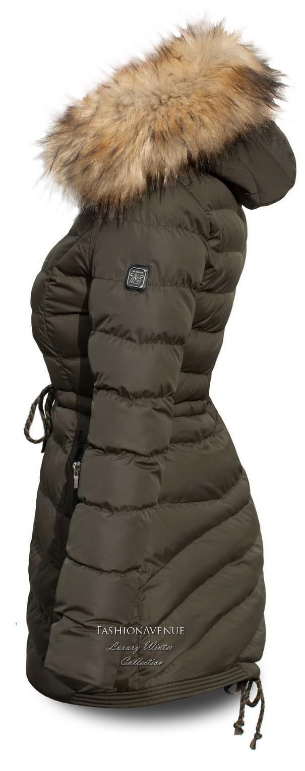 kurtka damska zimowa ocieplana futerkiem